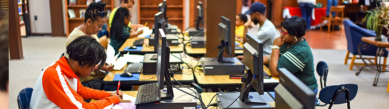 computer lab at Bolivar County Library System